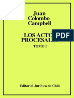 Colombo Cambell, Juan Los Actos Procesales Tomo Color