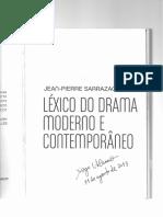 SARRAZAC, Jean-Pierre - Épico, Epicização