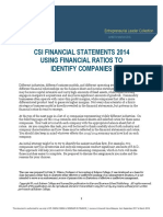 Case 1_Financial Statements 2014 Using Financial Ratios to Identify Companies