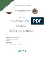 COMBINACIÓN DE BANDAS - IMÁGENES LANDSAT