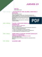Programa foro Mujeres Bicired Perú