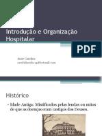 Introdução e Organização Hospitalar