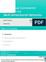 Consensus community detection for multi-dimensional networks