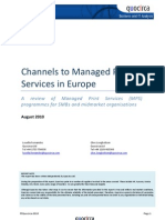 Channels to Managed Print Services in Europe