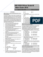 2016 Scale III Solved Paper