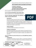11.06 Especificaciones Técnicas ELECTRICAS - Hanccoyo