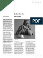 David Leatherbarrow - Dalibor Vesely 1934-2015