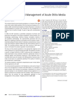 The Diagnosis and Management of Acute Otitis Media AAP 2013