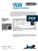 Paw Registration Application Web