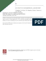 Las Ciencias Societies en La Nueva Forma de Lo Social (Globalización y Posmodernidad)