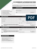 Co Ownership Authorization Form