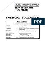 Class XI (Pace + Inspire) Chemical Equilibrium Sheet (01.12.2016) Agrawal Sir