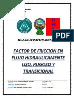 Factor de Friccion