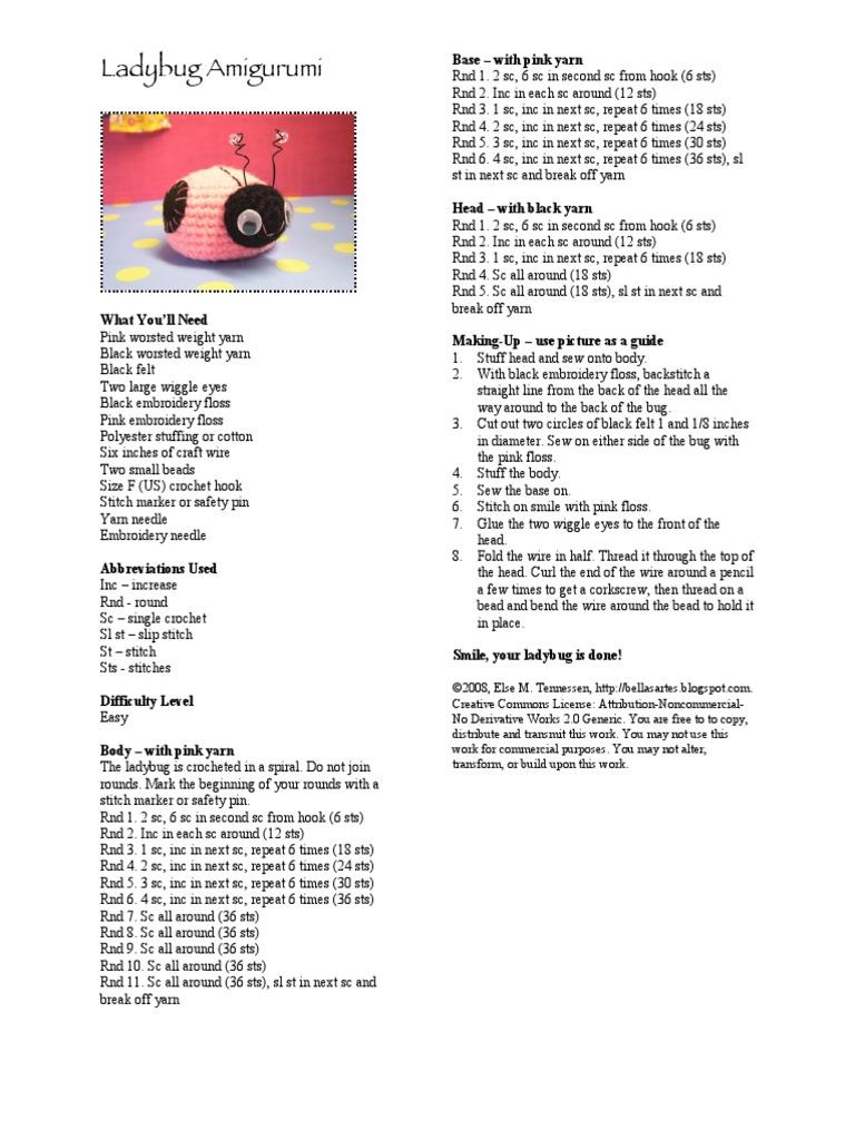 ladybug.pdf | Crochet | Amigurumi