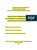 Proyecto de Atencion Integral a Urgencias y Emergencias