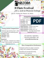 Flute Festival Flyer