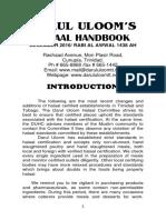 DARUL ULOOM Halaal Booklet December 2016