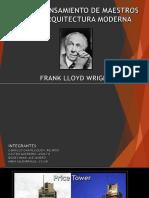 Obra y Pensamiento de Maestros de La Arquitectura Moderna - Frank Lloid Wright