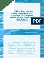 Dr. Abdul Rao
