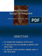 Neck Masses Benign vs Malignant