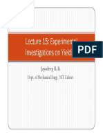 Lecture 15 Experimental Investigations Yielding