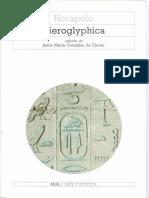 Horapolo Del Nilo-Hieroglyphica