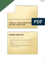 Transformer Number Plate (Lesson 11 Et332b)