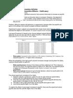 Article summaries Advanced Microeconomics