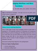 Types of Packaging Machines and There Functions