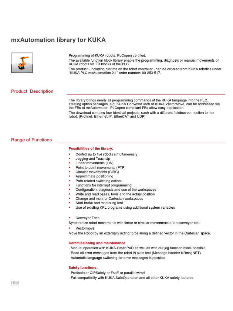 Mxautomation Library for Kuka en v1 2   Systems Engineering