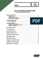 Foxboro - 761C and 743C - Serial Communications Guide (MI 018-850)