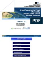 Impact Assessment of Forest Influenced by Changing Global Climate in Korean Peninsular