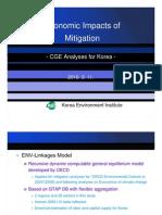 Economic Impacts of Mitigation