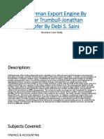 The German Export Engine by Gunnar Trumbull-Jonathan Schlefer by Debi S. Saini