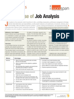 Job Analysis WAW