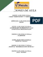 Audiciones 3ª EVALUACION 2015-16