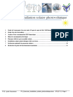 PV Exercices Installation Solaire Photovoltaique