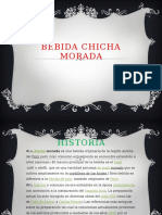 Bebida Chicha Morada