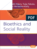Bioethics and Social Reality - 2005