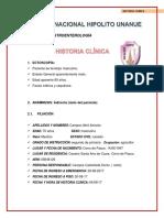 HISTORIA CLÍNICA Gastroenterologia