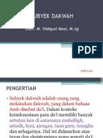 04-SUBYEK DAKWAH