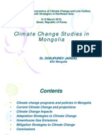 Climate Change Studies in Mongolia