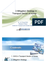 GHG Mitigation Strategy in Transport Sector of Korea