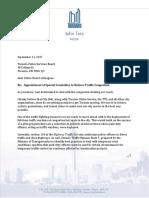 Mayor's Letter - TPSB Re HTA Amendment