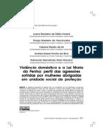 Violencia Domestica e a Lei Maria Da Penha