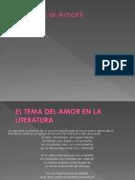 Qué Es El Amor; El Amor en La LieraturA