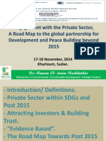 CSOs and the Private Sector Engagement for Peace Building