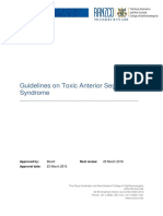 Guidelines of Toxic Anterior Segment Syndrome