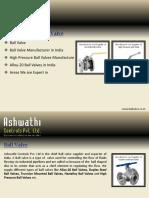 Ball valve  - A Flow Control Solution