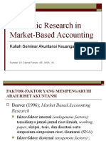 Academic Research in Market-Based Accounting